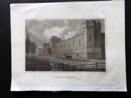 Hinton North America 1852 Antique Print. Penitentiary, Philadelphia